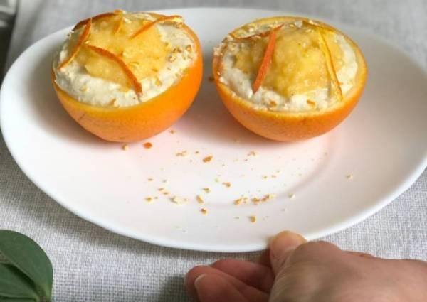 Десерт: творожно-апельсиновый завтрак - пошаговый рецепт с ...