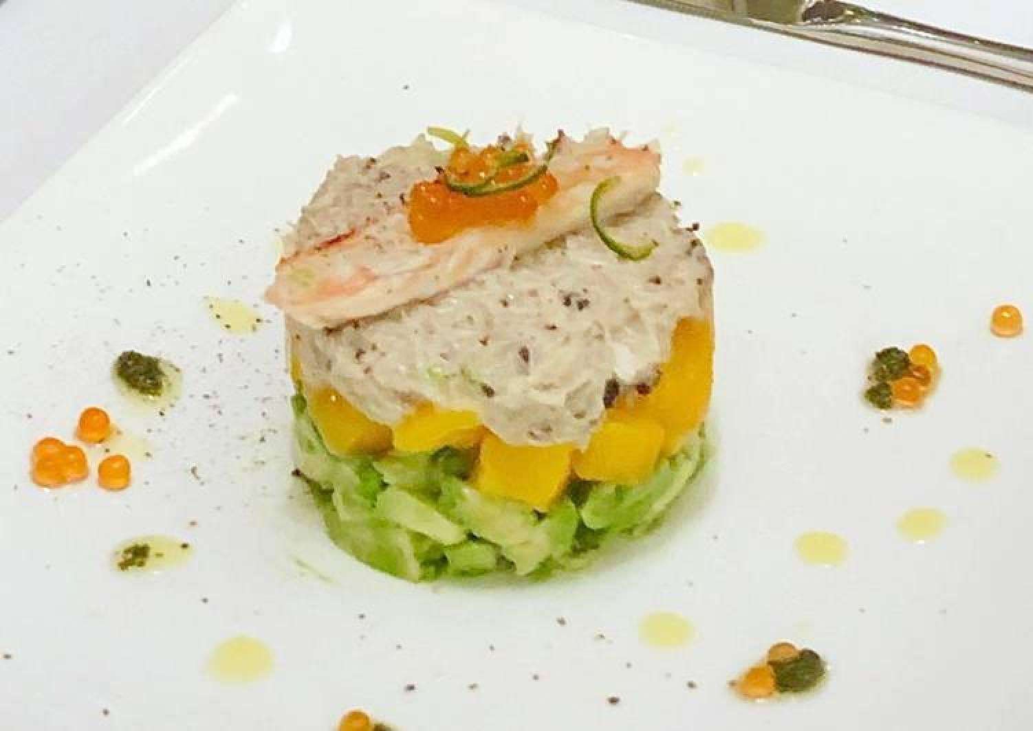 Crabmeat truffle salad with Mango and Avocado