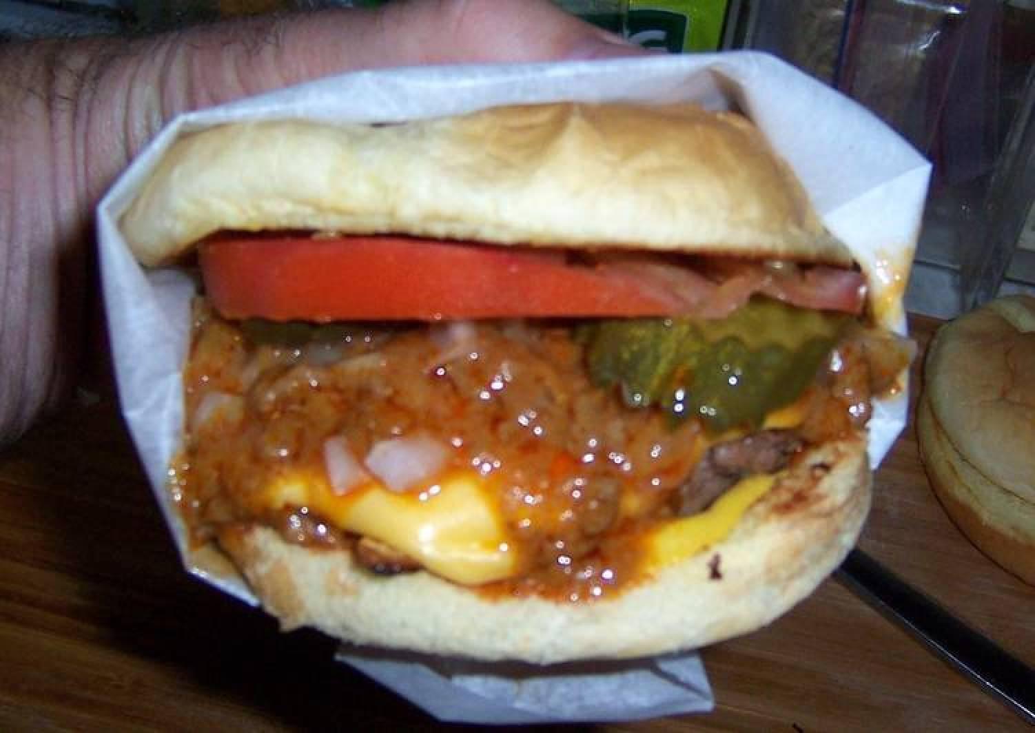 Recipe Of Homemade Gary S Island World Famous Chili Burger The Menu List