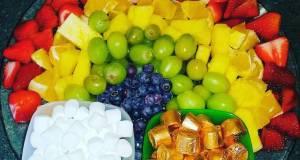 St Pattys Rainbow Fruit Platter