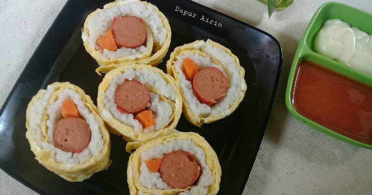 Resep Telur Gulung Isi Nasi Oleh Dapur Airin Cookpad