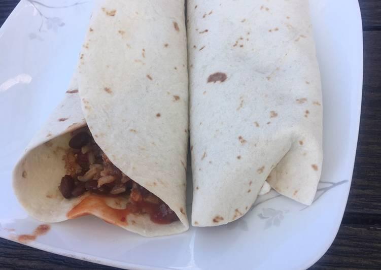 Simple Way to Prepare Homemade Tofu,black bean and corn chili burrito