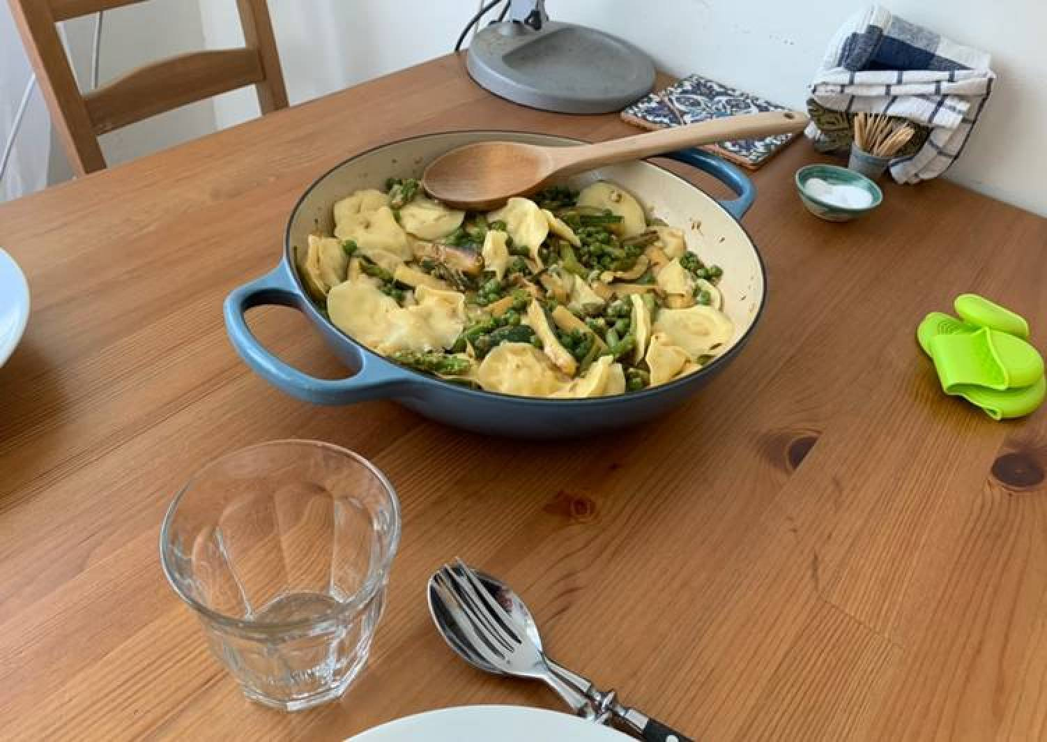Spring Lemon Ravioli - Asparagus, Zucchini and Peas