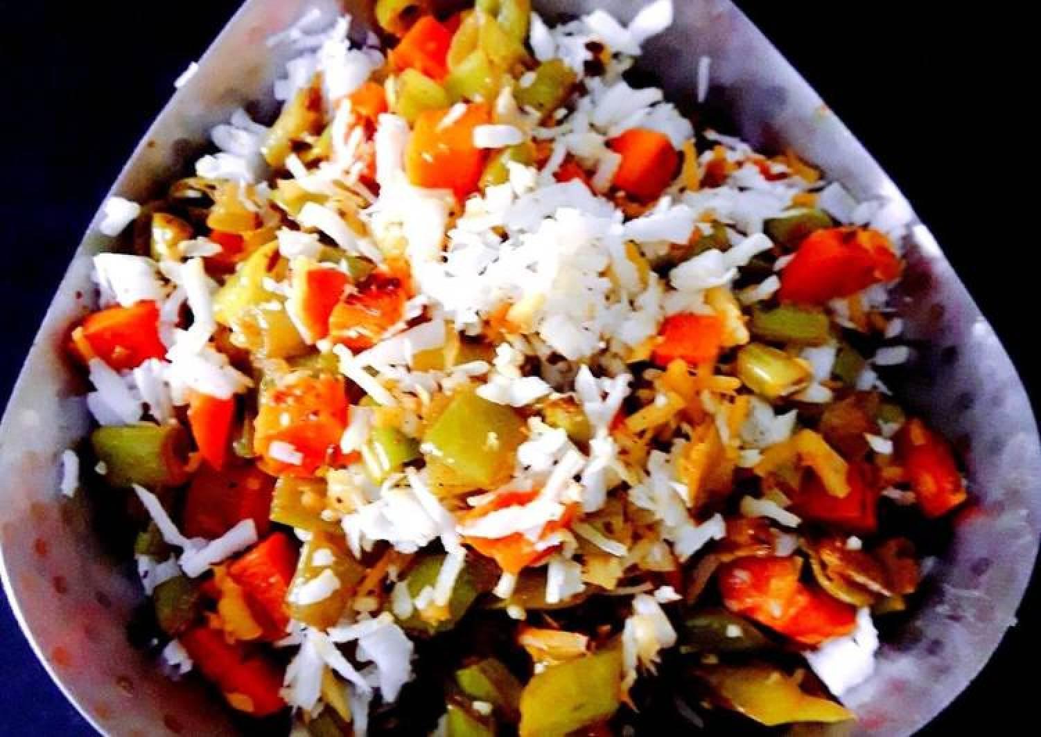 Carrot-Beans-Coconut Vepudu