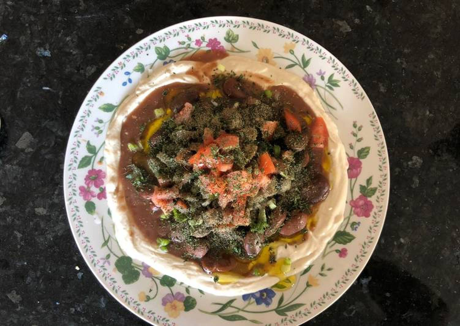 Fava beans salad