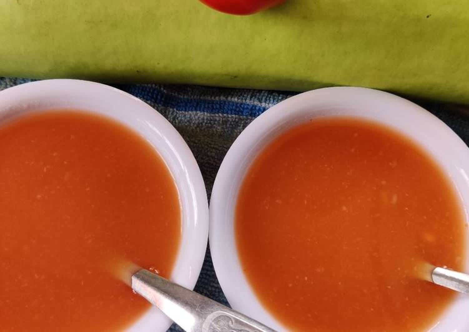 Bottle gourd tomato soup