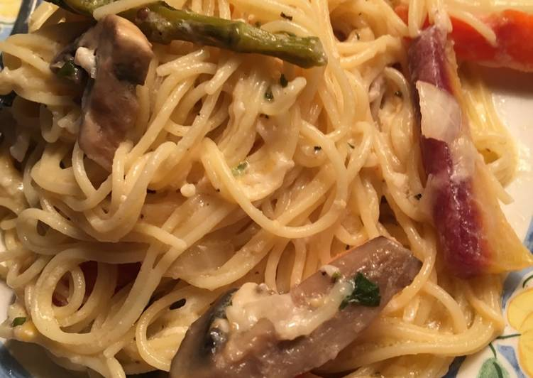 Pasta with Lemon Garlic sauce