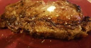 Pan fryed strip steak