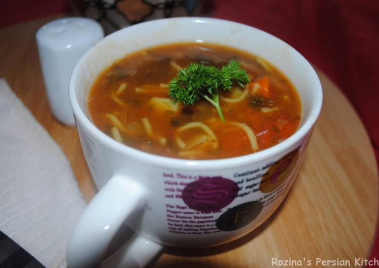 Steps to Make Quick Persian vermicelli soup