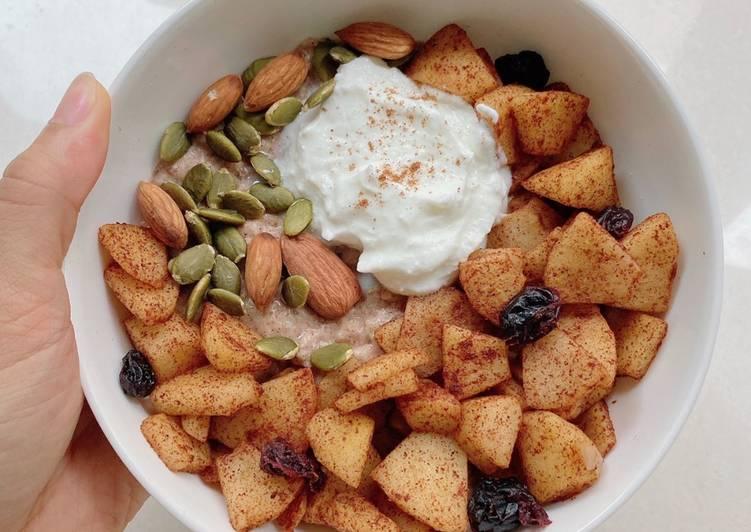 Cheska 發表的 蘋果燕麥杏仁奶早餐|呷有好料 食譜 - Cookpad