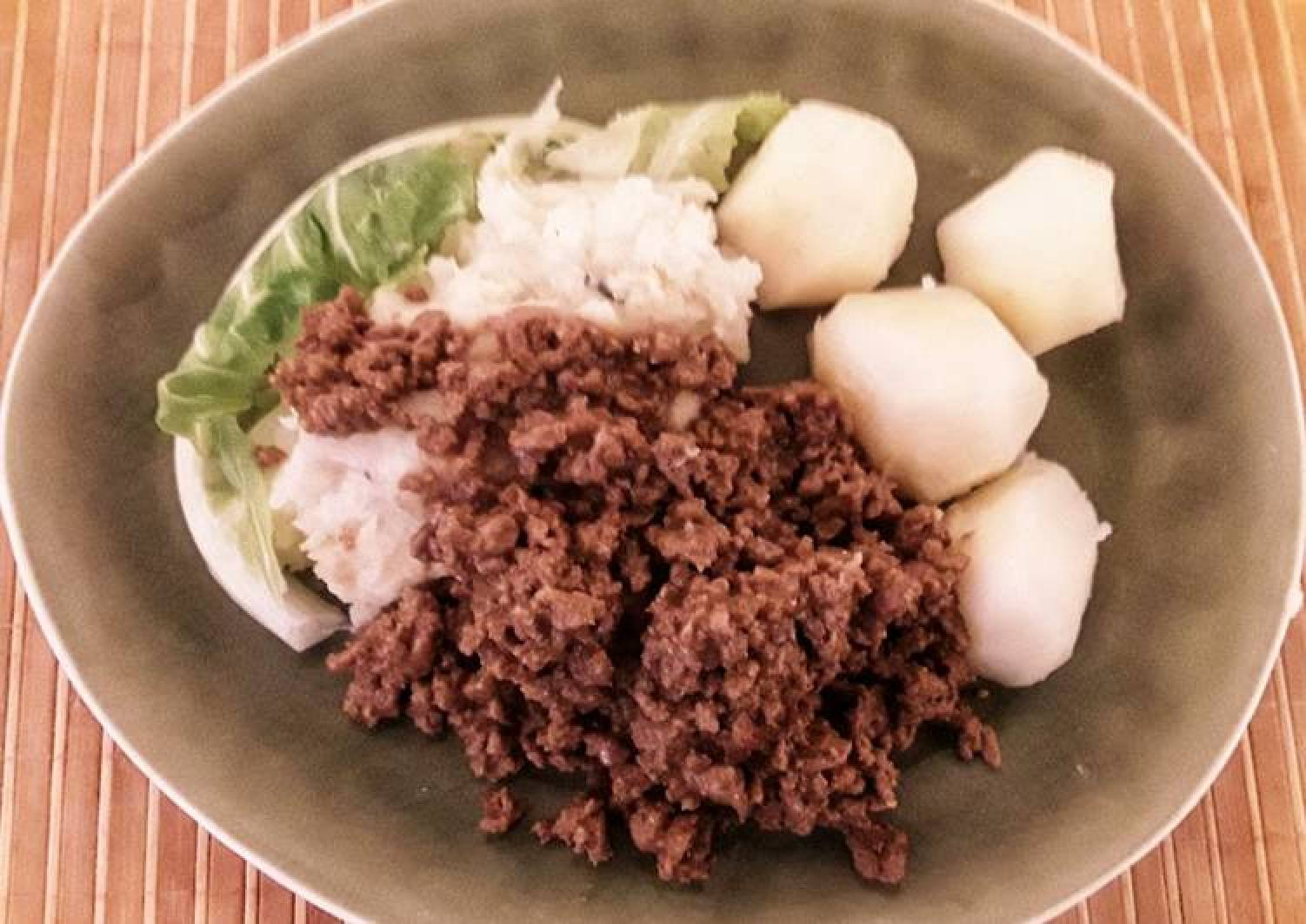 Sig's Cauliflower Puree with Minced Meat