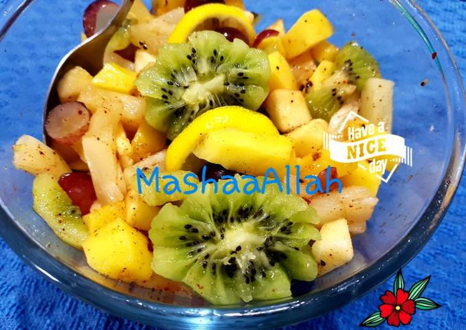 Sweet and tangy fruit salad