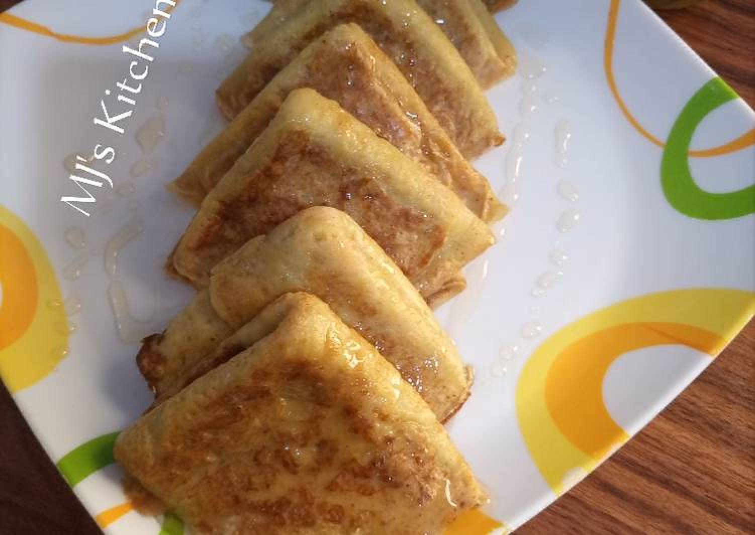 Vanilla Oats crepes with lime syrup