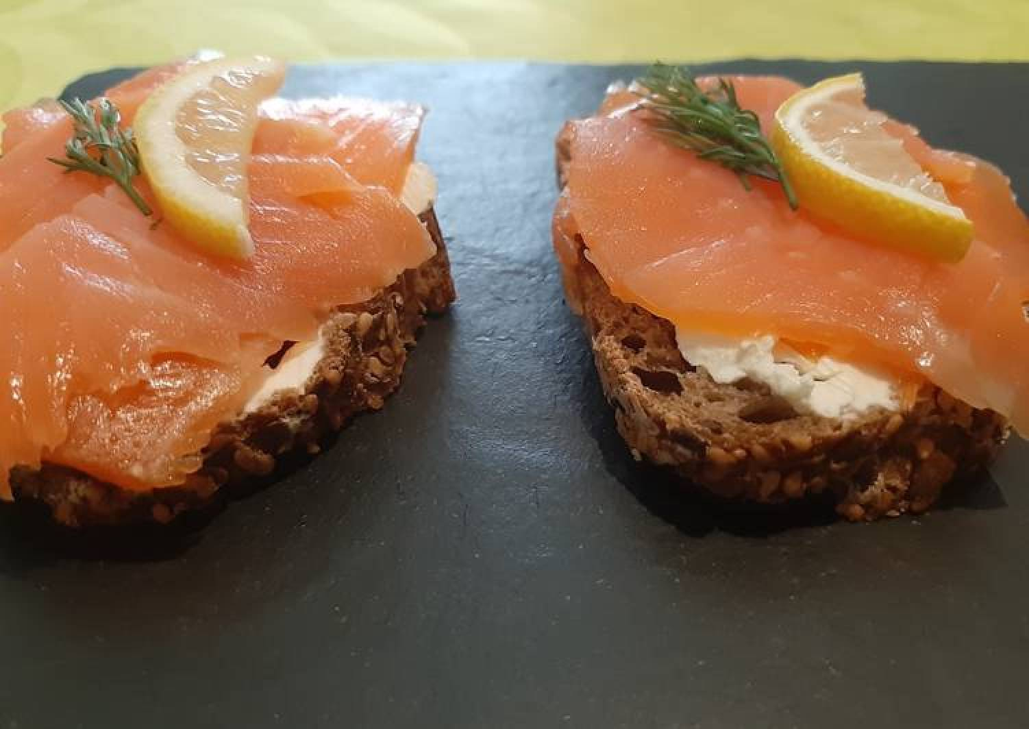 Salmon open sandwich