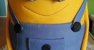 Vickys Minion Bob Cake Decorating Idea