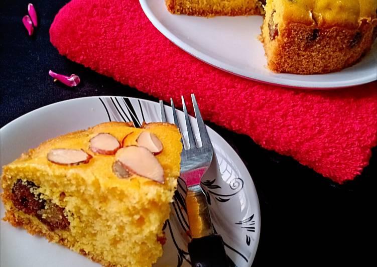 Gulabjamun custard cake