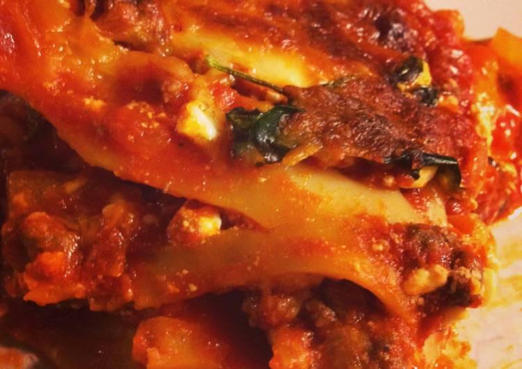 Bison Lasagna