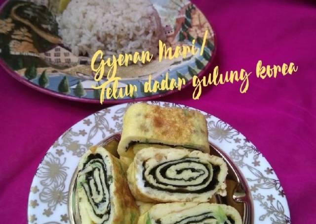 Gyeran Mari (telur dadar gulung korea)