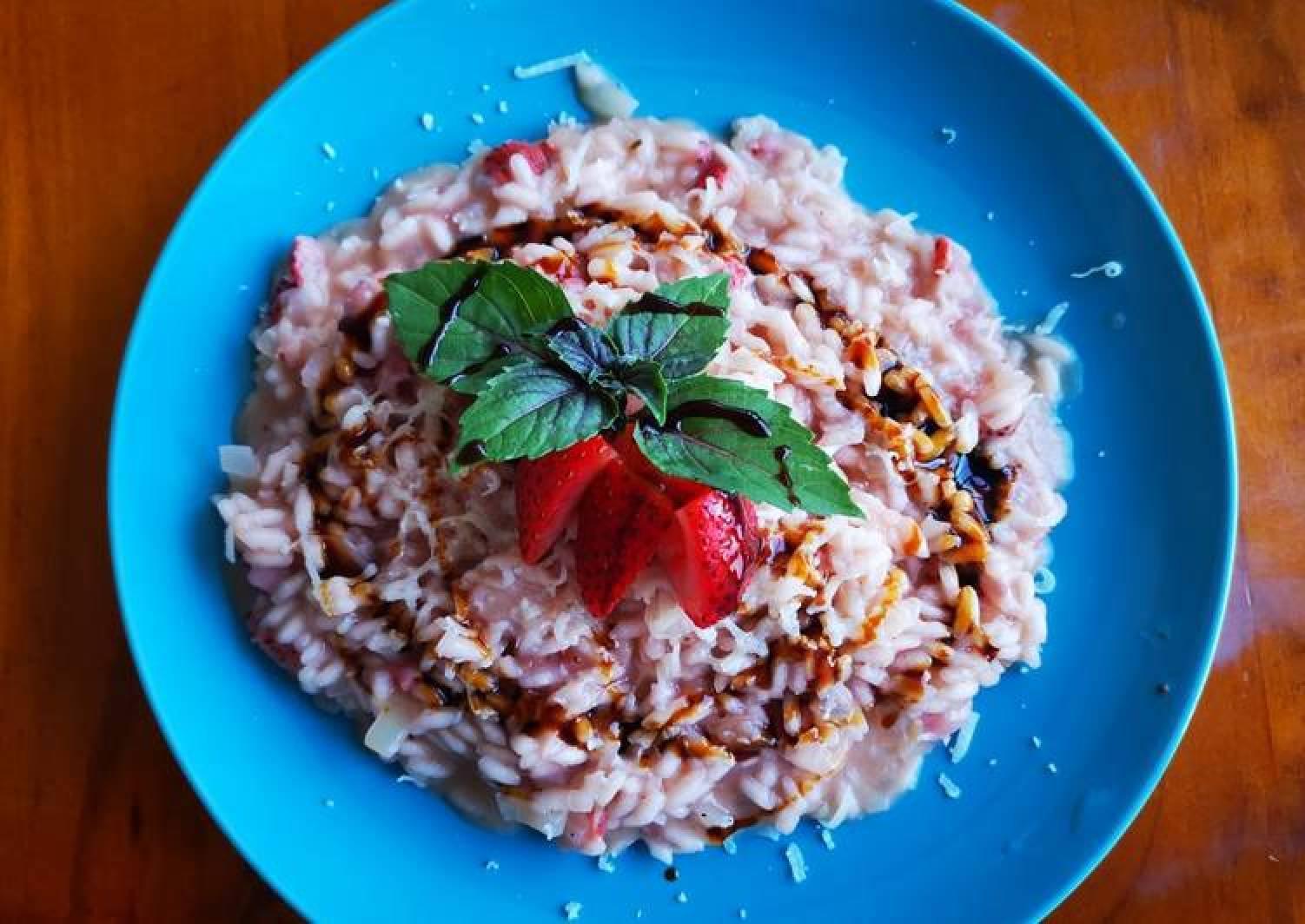 Strawberry risotto (risotto alle fragole)