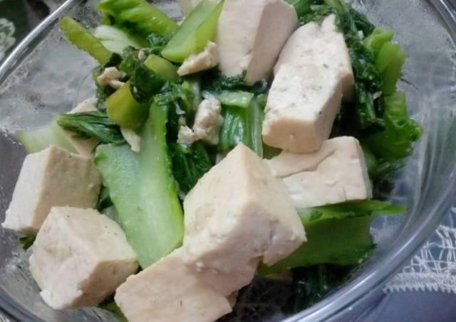 Menu sehat : Tumis (dengan olive oil) sawi jeruk & tahu