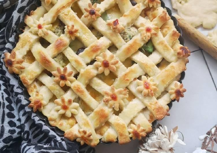 Chicken Malai pizza pie