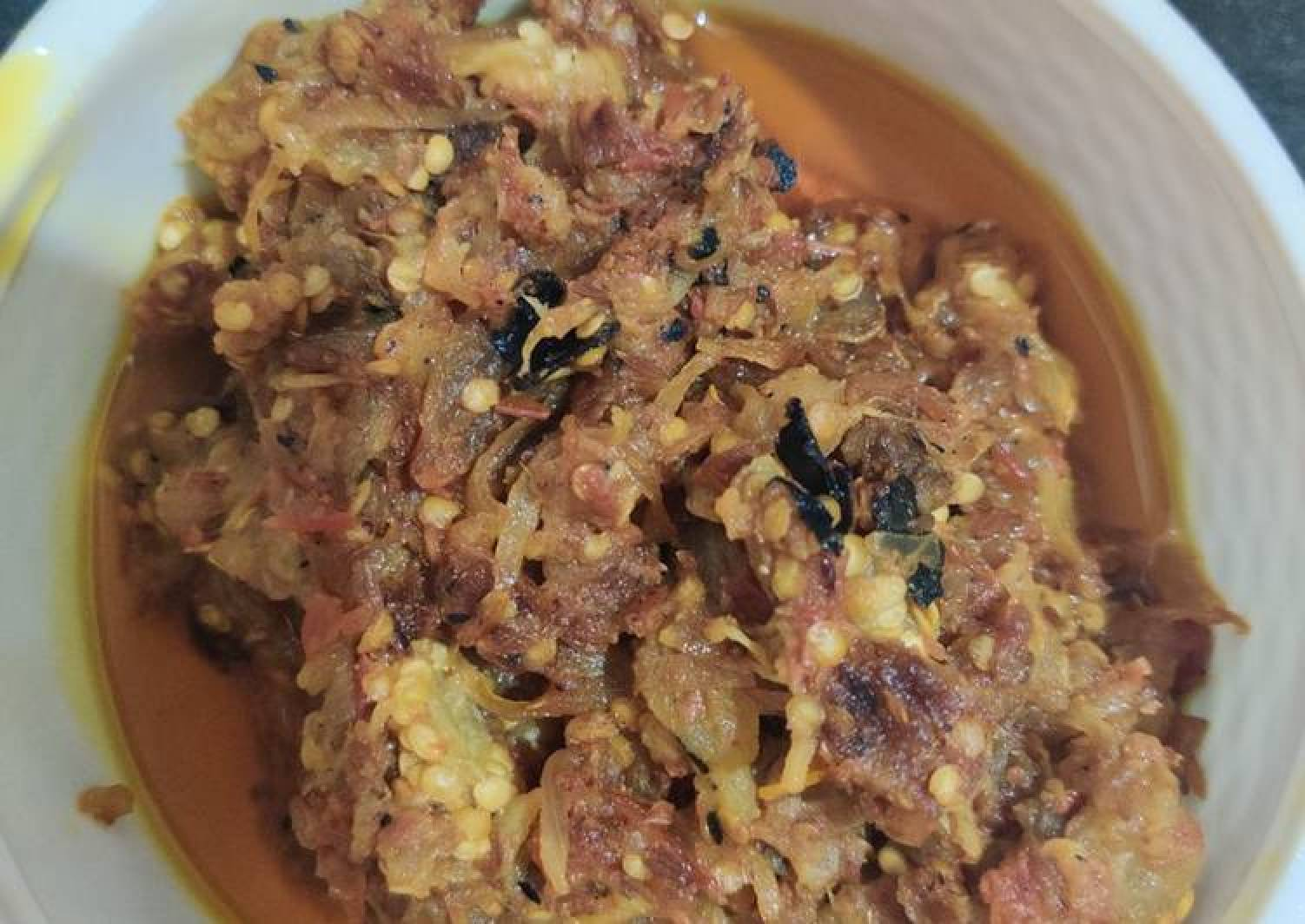 Eggplant bhartha bengan bhartha