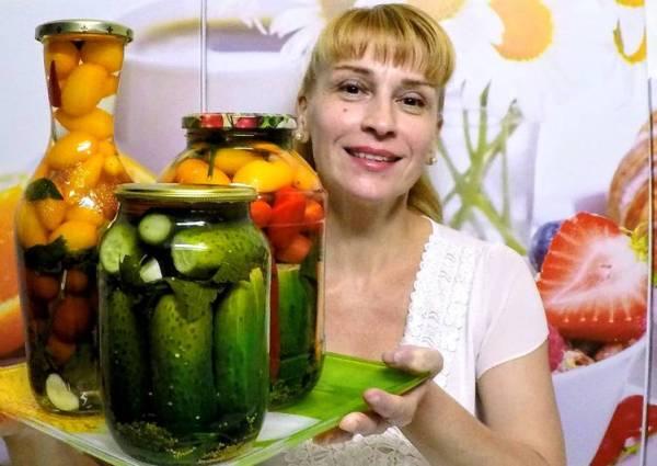 Рецепты Заготовки на зиму помидор и огурцов без ...