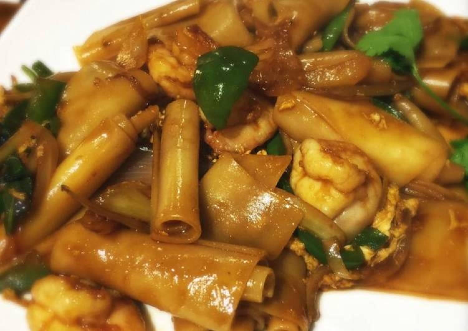 Drunken noodle (shrimp)
