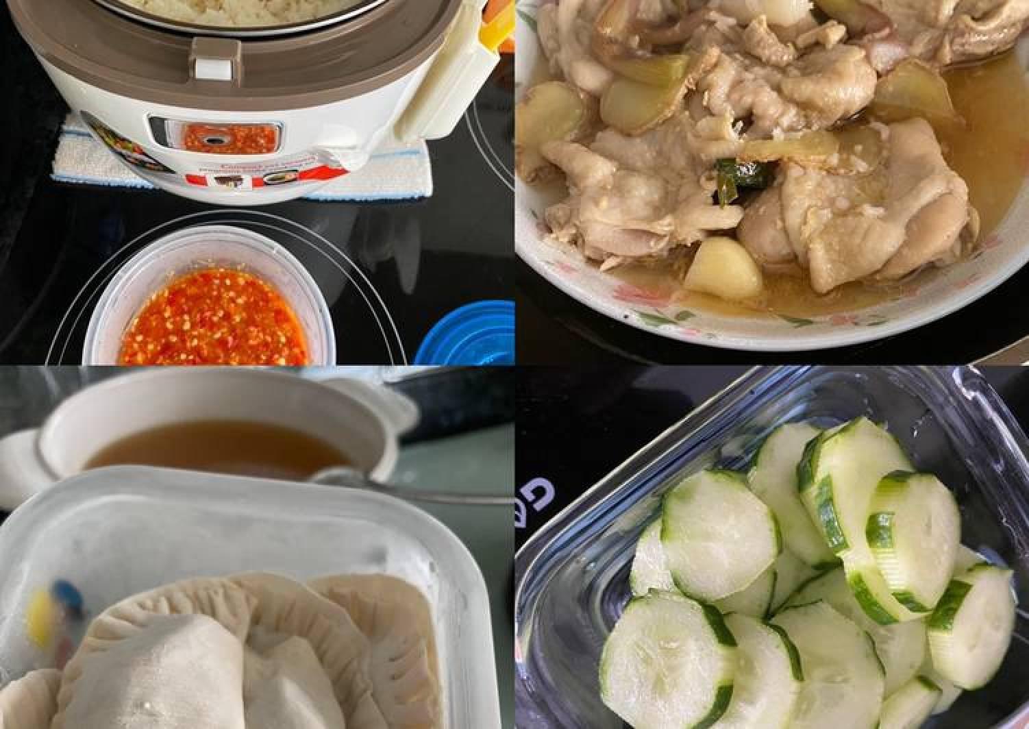 Chicken rice & dumplings