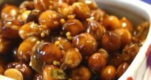 Dry-Roasted Soy Beans Pickled in Balsamic Vinegar