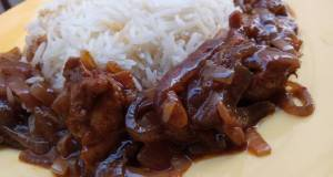 White rice with Thai onion and chicken sauce