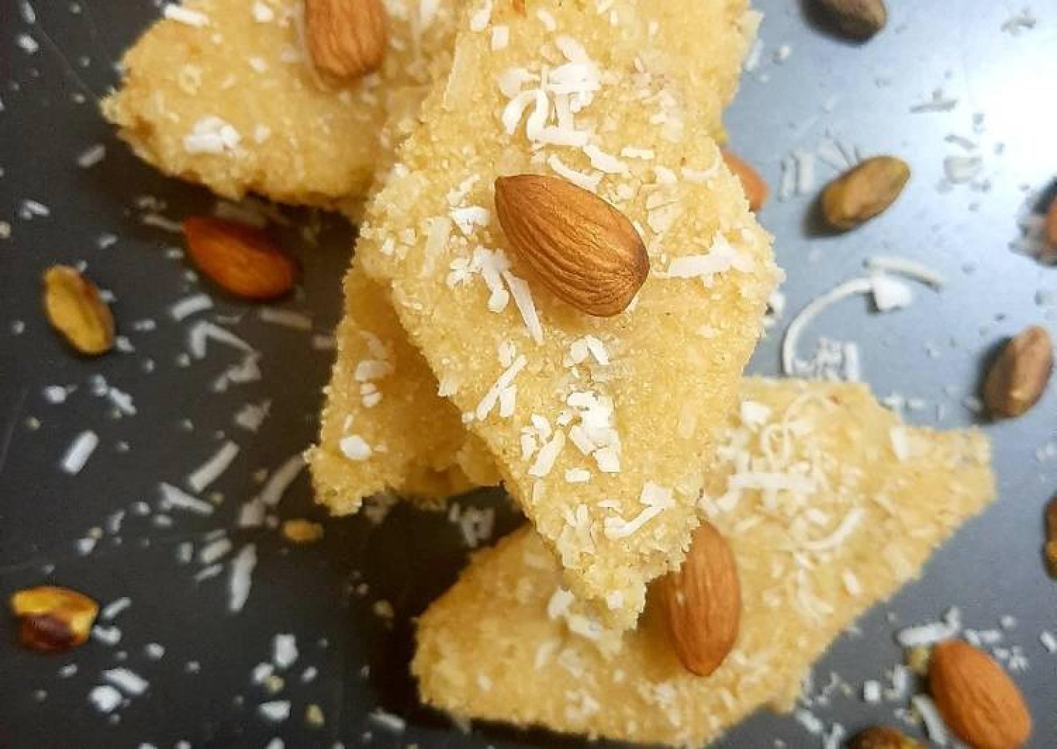 Suji Tukri Halwa(semolina sweet dessert)