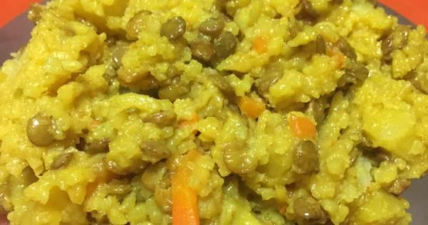Рис с чечевицей в мультиварке - пошаговый рецепт с фото ...
