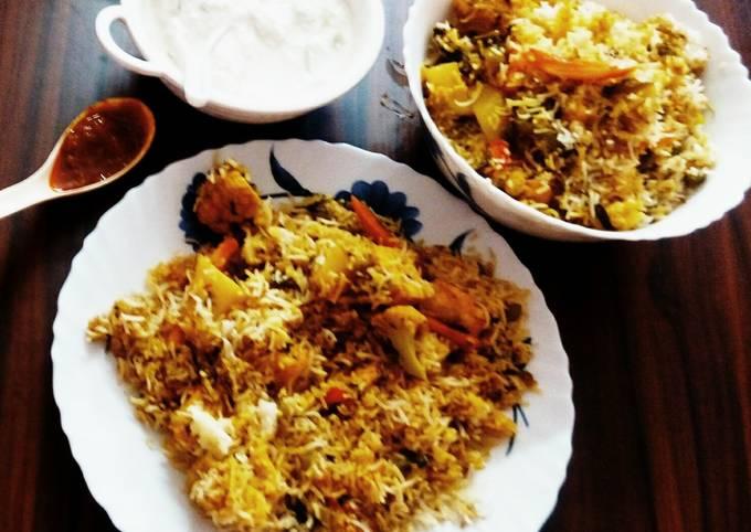 Recipe of Jamie Oliver Hyderabadi Veg dum biryani