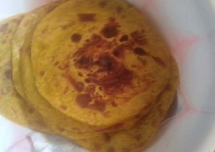 Steps to Make Perfect Pumpkin chapati