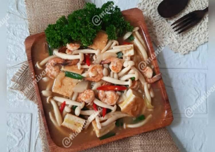 Sandwich tofu masak saus tiram