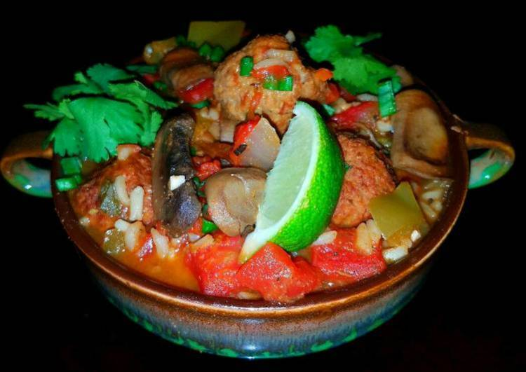 Mike's Spicy Mexican Meatball & Rice Soup