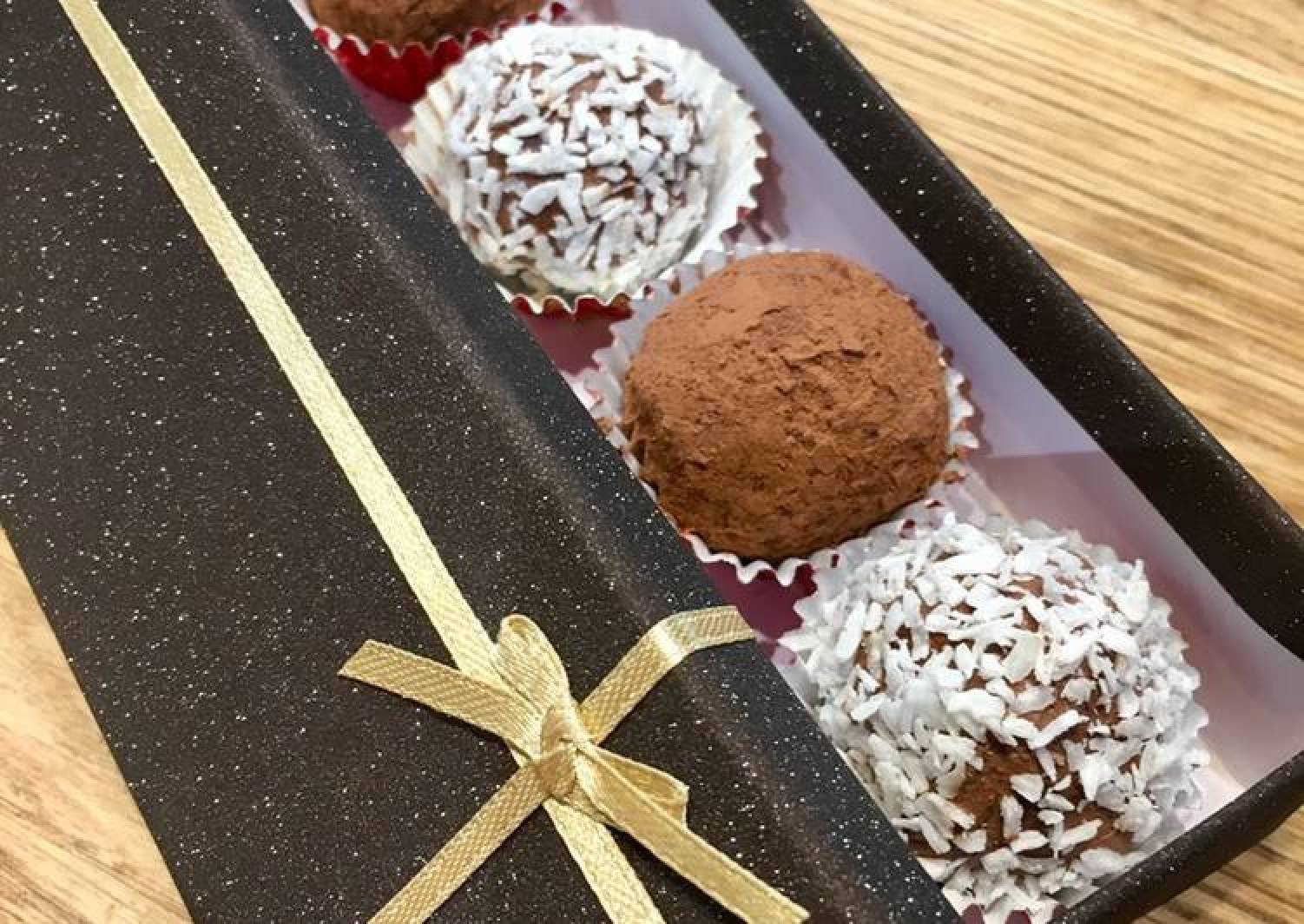 Raspberry Gin Chocolate Truffles