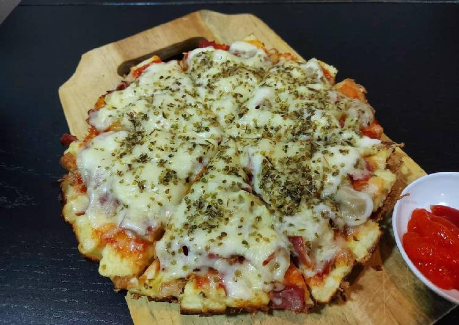 Pizza Roti Tawar Nasi