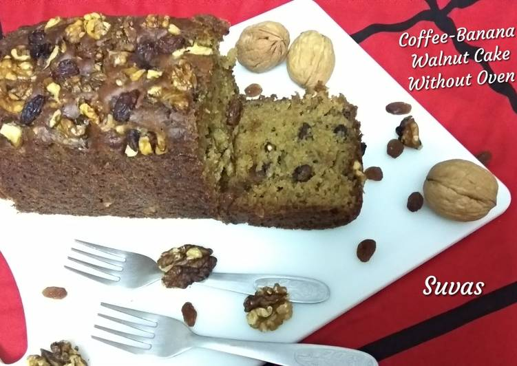 Coffee Banana Walnut Cake Without Oven