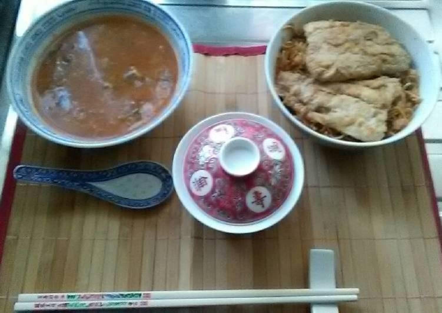 Japanese poach smoke haddock fillets in sho chiku Bai sake