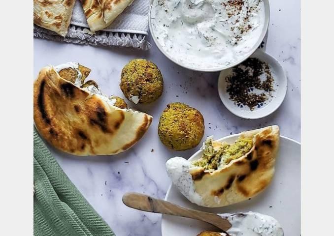 Healthy Air Fryer Falafel w/ Lemon & Dill Aioli
