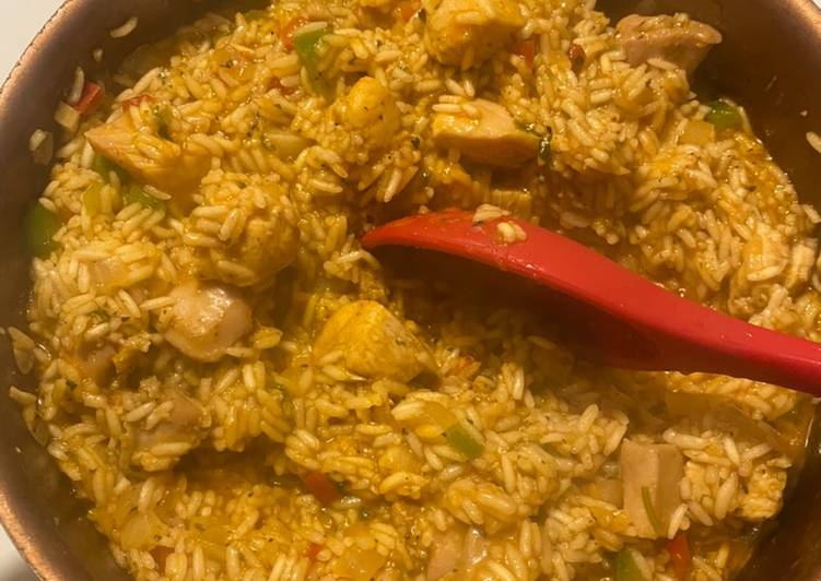 Chicken and Rice Arroz con pollo Cuban