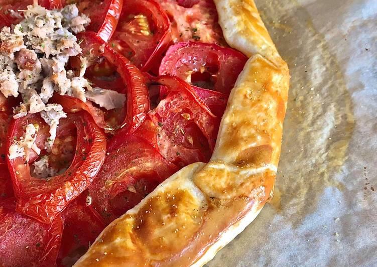 Tarte rustique thon tomate