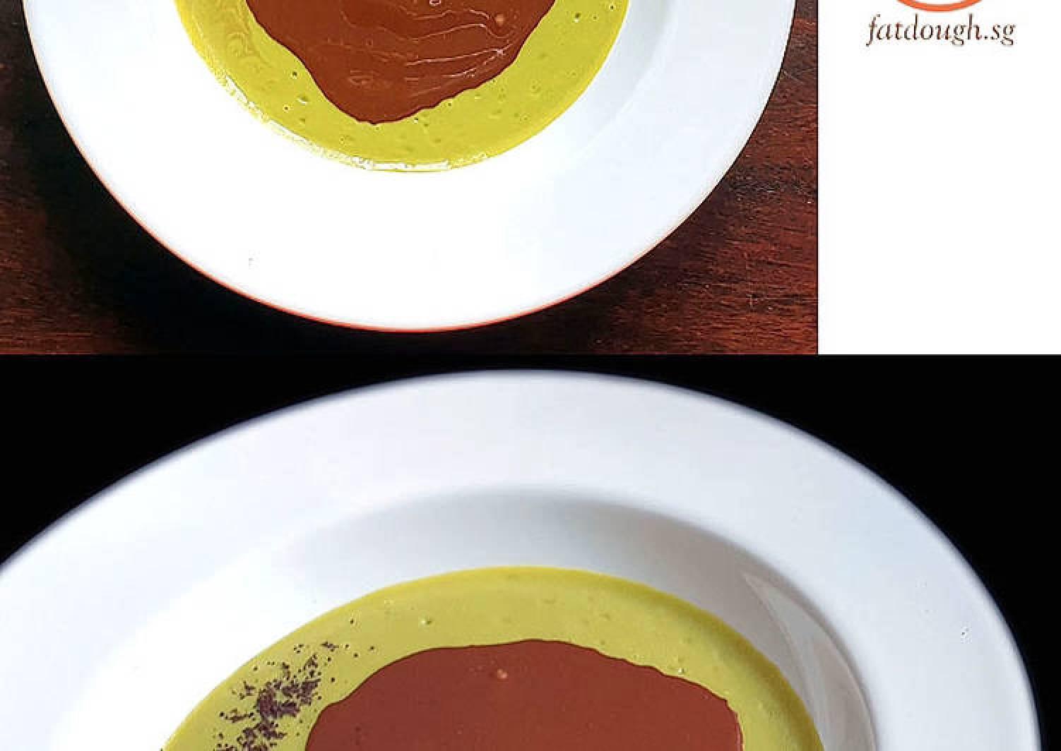 Avocado Chocolate Dessert Soup