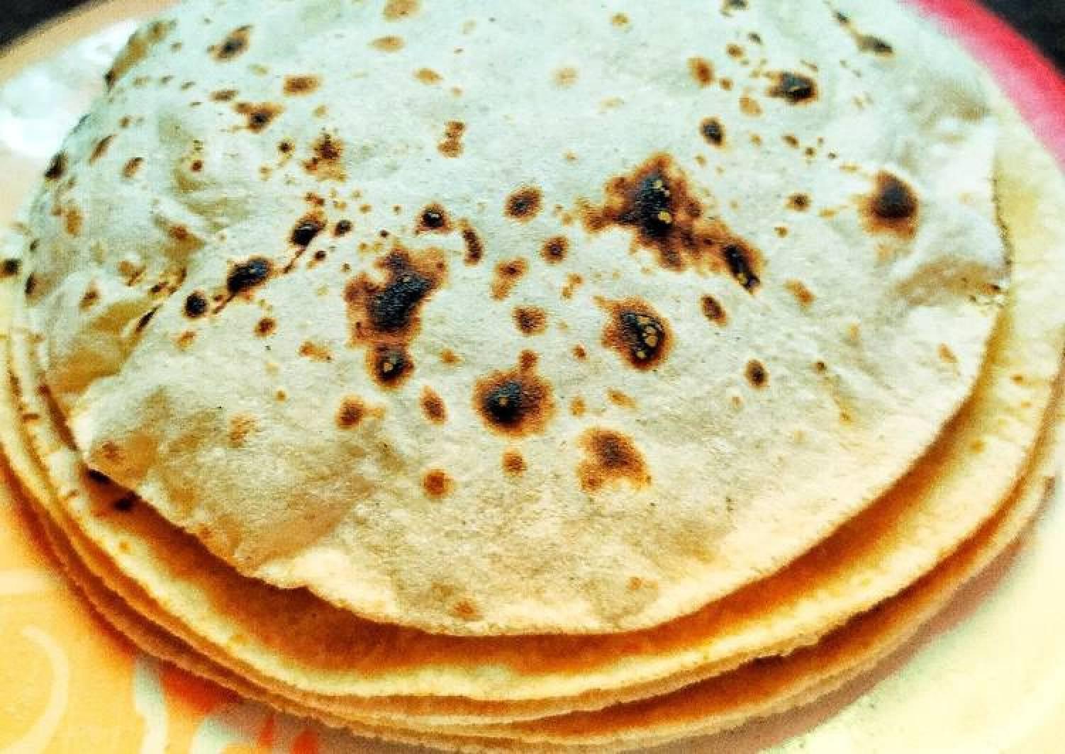 Phulka Roti, Chapati, Puffed Indian bread
