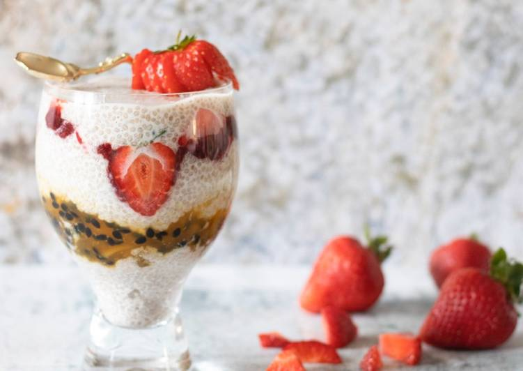 Recipe of Perfect Overnight soaked Chia pudding