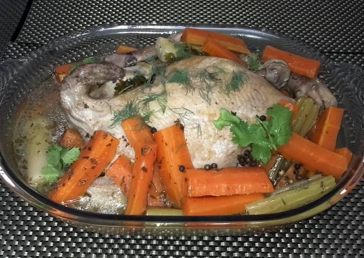 Chicken In White Wine Broth