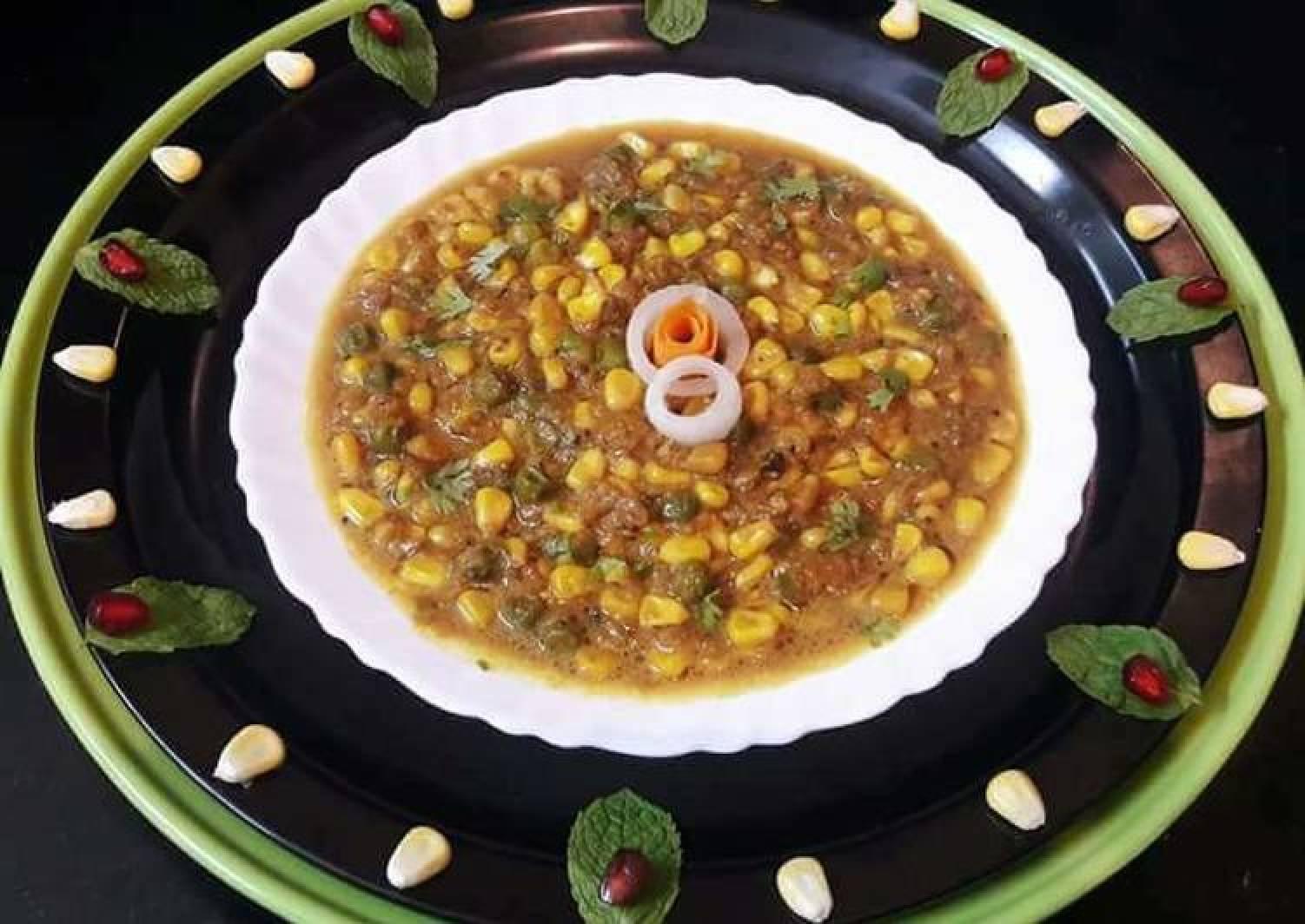 SweetCorn Peas Masala