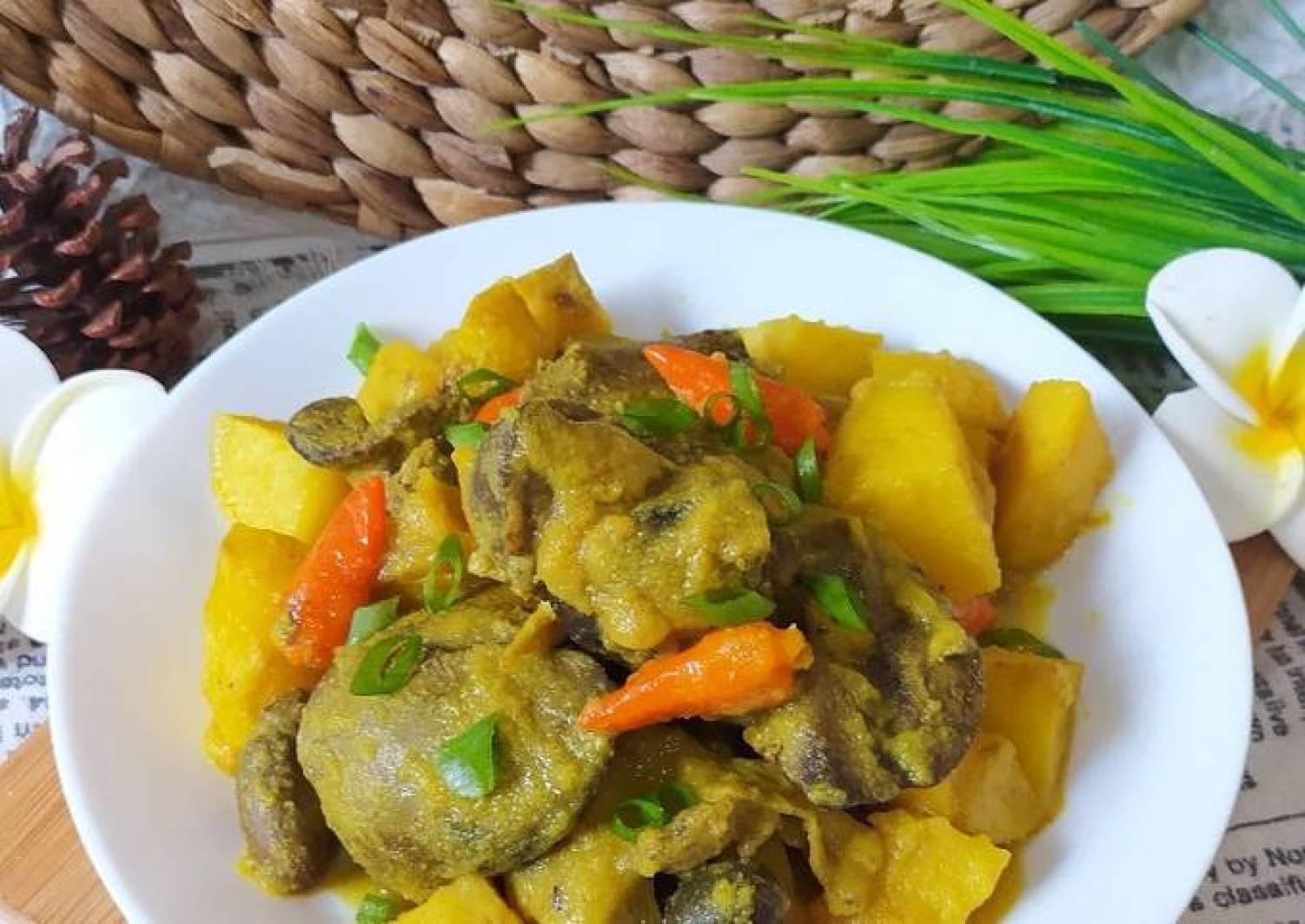 Resep Ati Ayam Bumbu Kuning